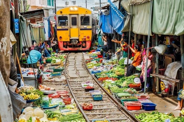 メークロン傘たたみ線路市場