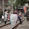 平渓天燈体験、老街散策の写真
