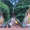 チェンマイ市内寺院 ・ドイステープ ・手...の写真
