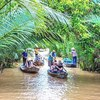 悠久の大河メコン川とミトー1日観光の写真