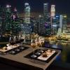 煌めき シンガポールの夜景+2階建てオー...の写真