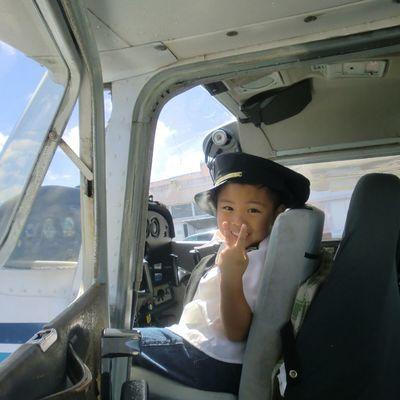 セスナ体験操縦 日本人パイロットが一緒だ...の写真