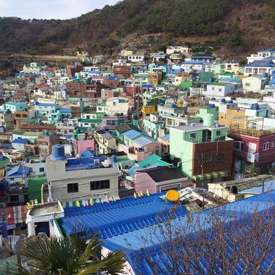 甘川文化村観光 + 市場探索 + 繁華街...の写真