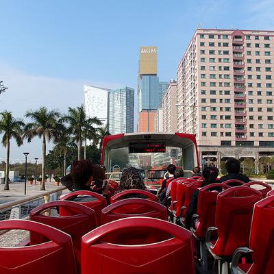 マカオオープントップバス乗り放題チケットの写真