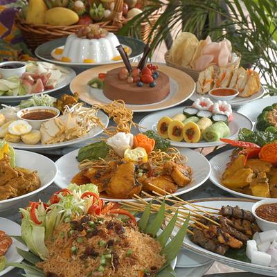 マレー料理と民族舞踊鑑賞の写真