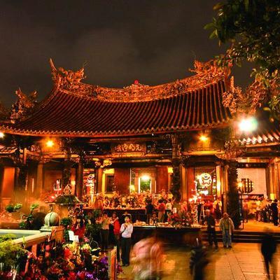 台北夜の観光の写真