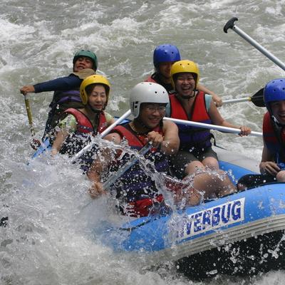 キウル川ラフティングの写真