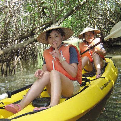 マングローブカヌー体験の写真