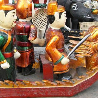 伝統芸 水上人形劇 + フエ宮廷料理ディ...の写真
