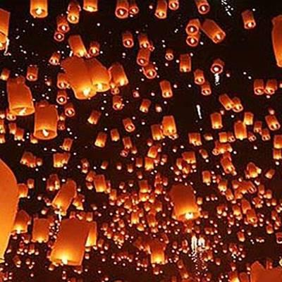 [チェンマイ]コムローイ祭り (ランタン...の写真