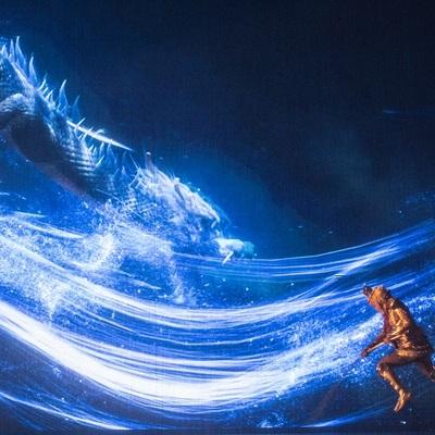 中国の物語「西遊記」大規模な屋内舞台劇の写真