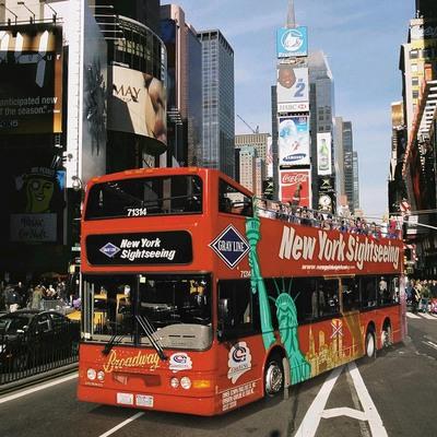 ニューヨーク・ダブルデッカーバス (乗り...の写真
