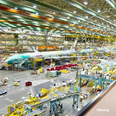 ボーイング工場見学とシアトル観光の写真
