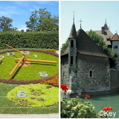 ジュネーブ市内、レマン湖クルーズとアヌシ...の写真