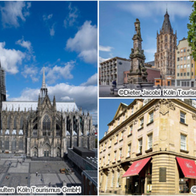 世界遺産ケルン大聖堂と旧市街 午前ウォー...の写真