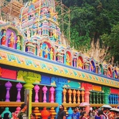 ヒンズー教の聖地バツー洞窟観光の写真