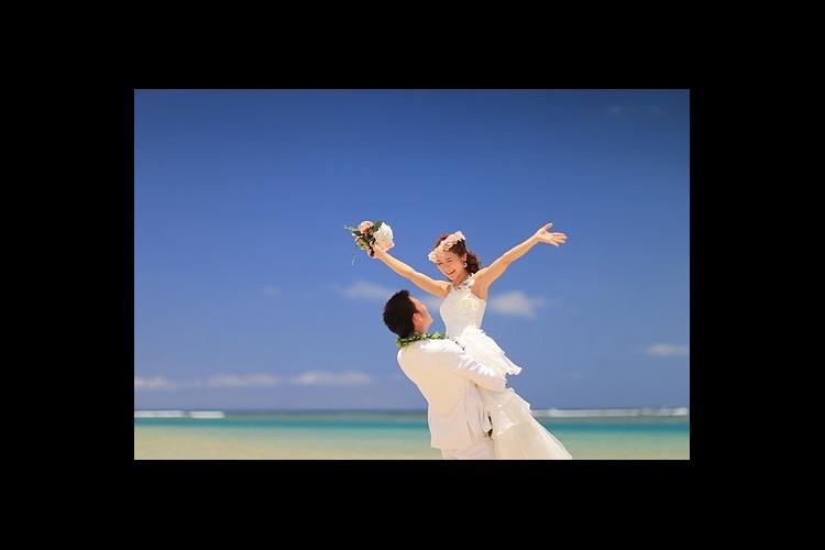 ビーチフォト! 写真だけの結婚式を検討の...の写真