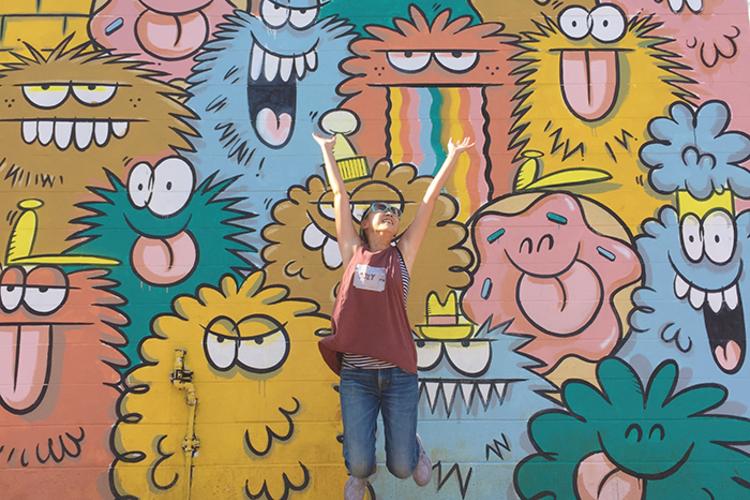 カカアコエリアで大人気ウォールアート散策...の写真