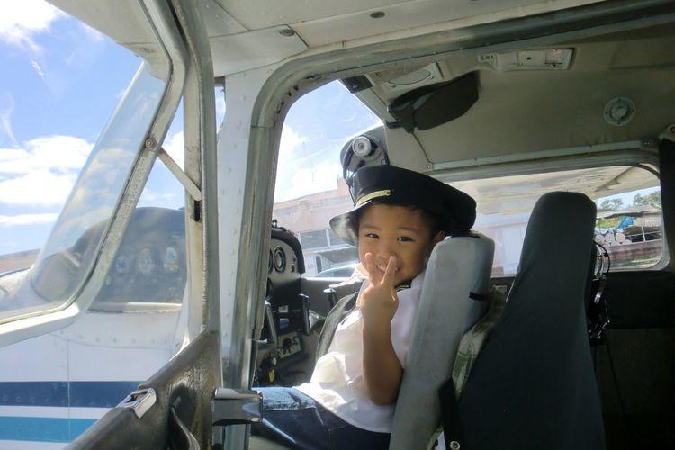 日本人パイロットが一緒だから安心! 目指...の写真