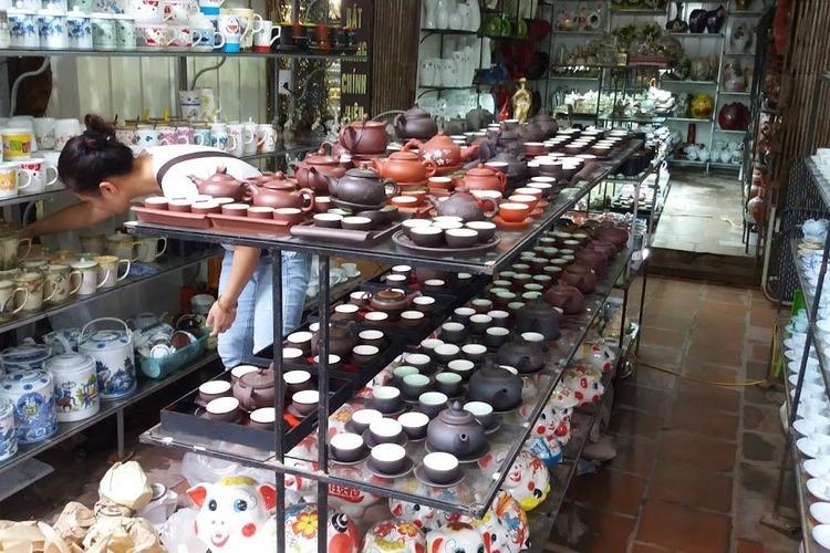 ベトナム伝統バッチャン陶器村見学の写真