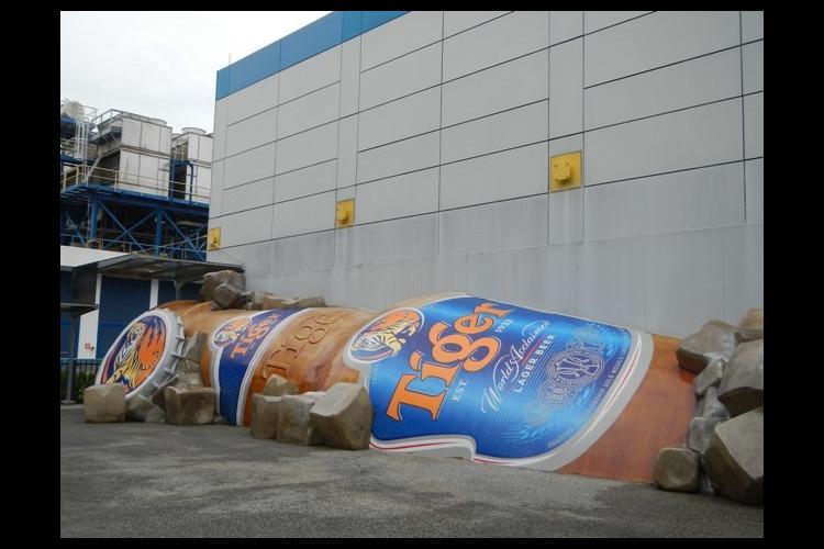 タイガービール工場見学ツアーの写真