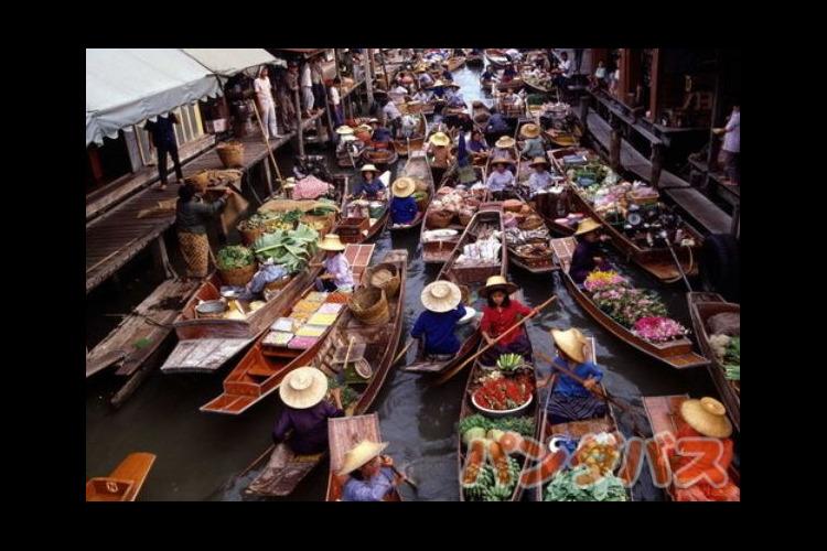 水上マーケット + バンコク市内観光の写真