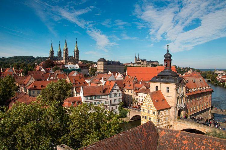 2つの世界遺産 バンベルクとヴュルツブル...の写真