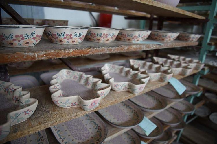 プライベート 可愛いらしいポーランド陶器...の写真