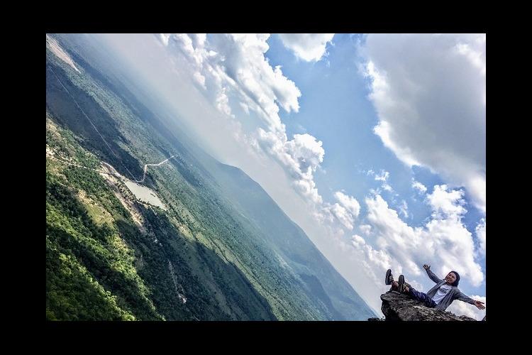 目の前に見える地平線は一生の思い出! !...の写真