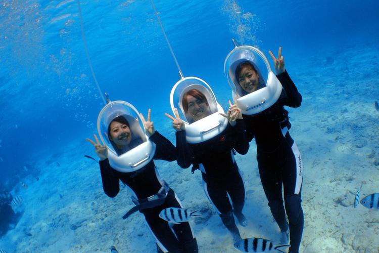 青の洞窟ボート体験ダイビングの写真