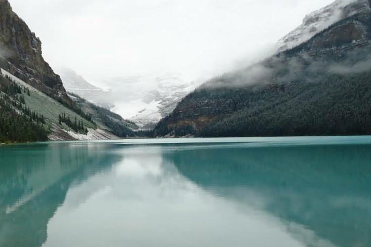 レイクルイーズとコロンビア大氷原1日観光の写真