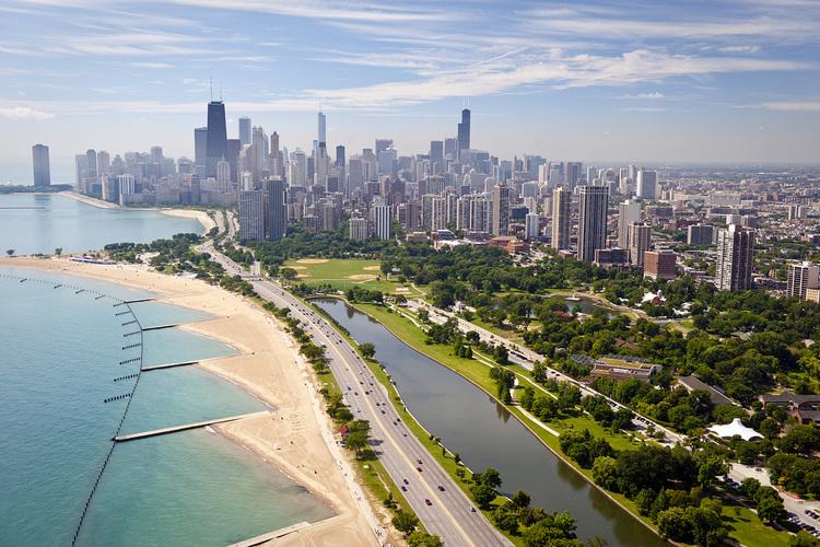 シカゴ1日市内観光 ウィリスタワーの展望...の写真