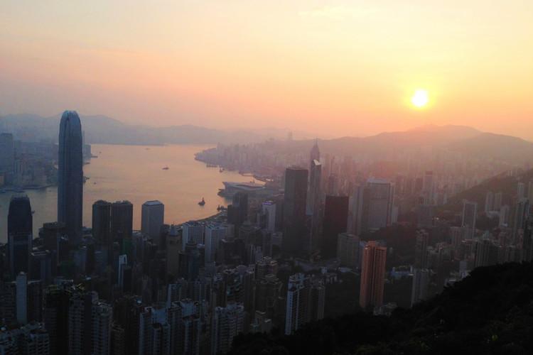 [香港]2019年元日ビクトリアピークか...の写真