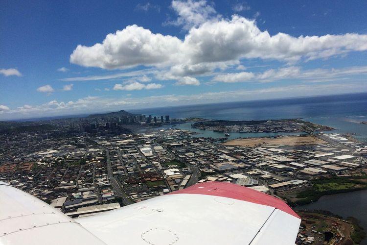 セスナ遊覧飛行 ハワイの絶景パノラマを見...の写真