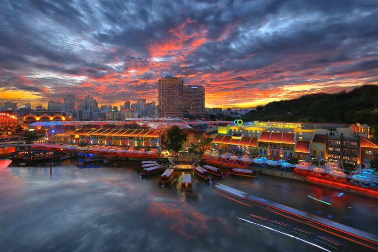 定番セントーサ観光とシンガポールの夜景と...の写真