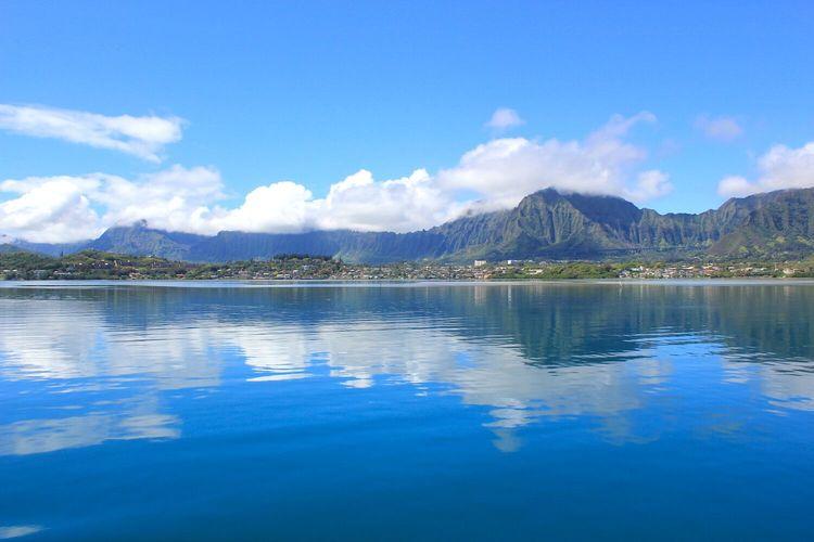 ハワイの海で穏やかに大切な故人を送る 海...の写真