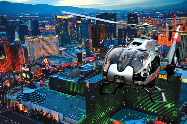 ラスベガス・ヘリコプター夜景鑑賞ツアー(...の写真