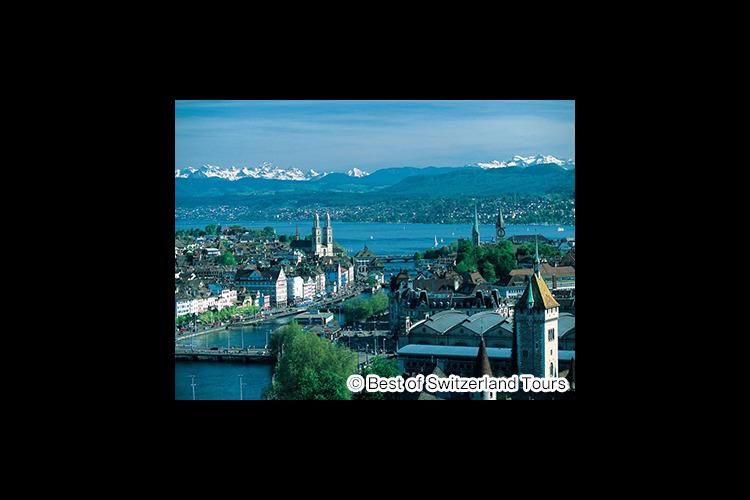 チューリッヒ市内観光とチューリッヒ湖、ア...の写真