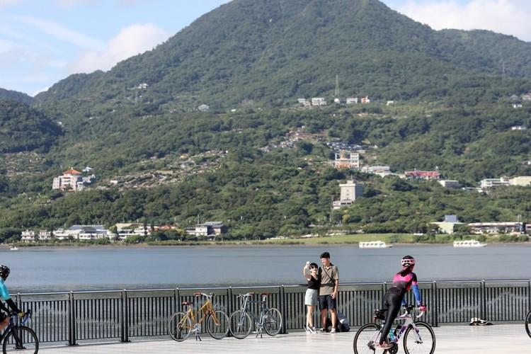 台北の川沿いサイクリングツアーの写真