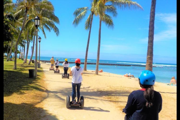 セグウェイ体験 オアフ島人気スポット観光...の写真