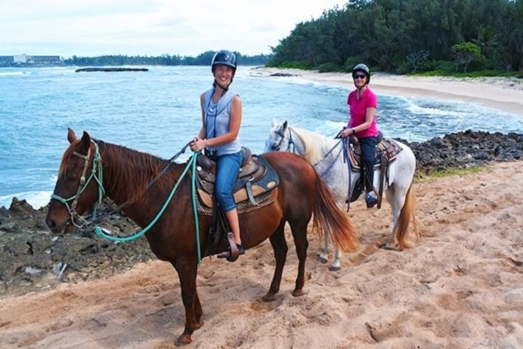 海辺乗馬45分とノースショア観光の写真