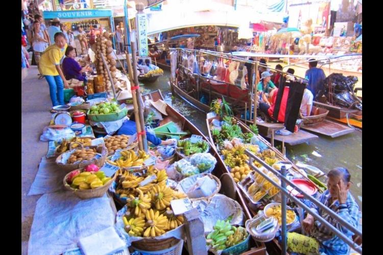 水上マーケット + アユタヤ (バンコク...の写真