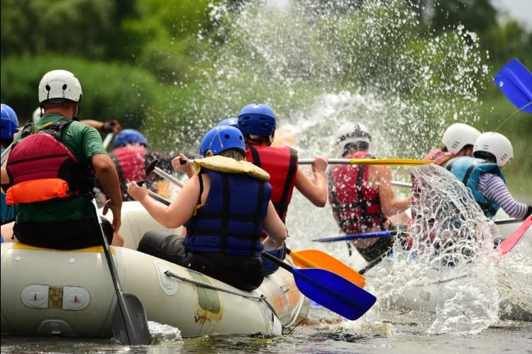 アユン川でラフティング + 絶景ライステ...の写真