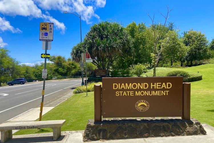 片道シャトルで早朝のダイヤモンドヘッドか...の写真