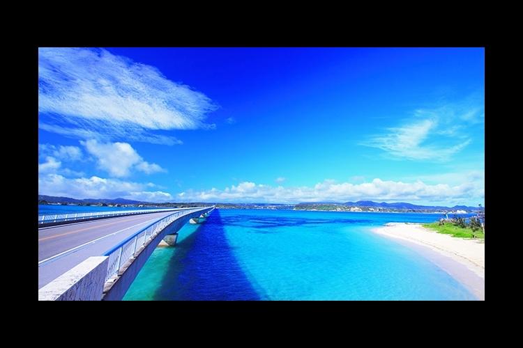 沖縄美ら海水族館と万座海中展望船・古宇利...の写真