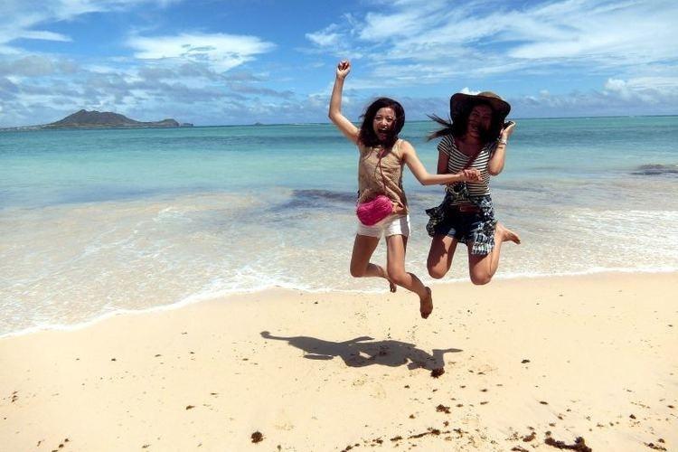 どこまでも続く青い海と白い砂浜!! 絶景...の写真