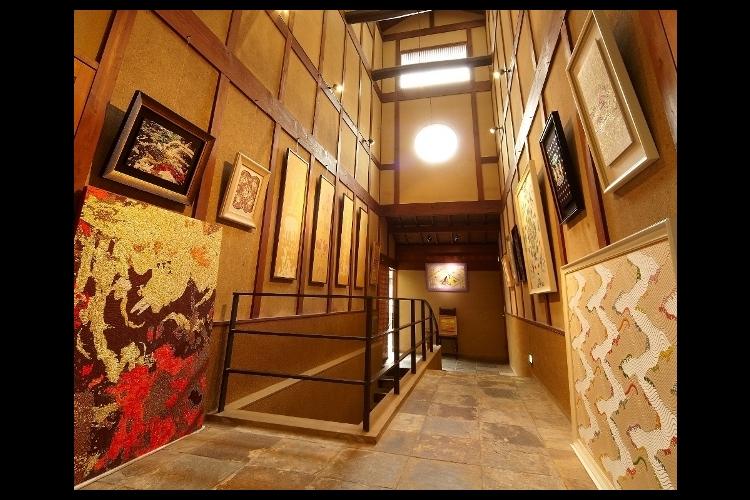 京都の伝統織物工房見学の写真