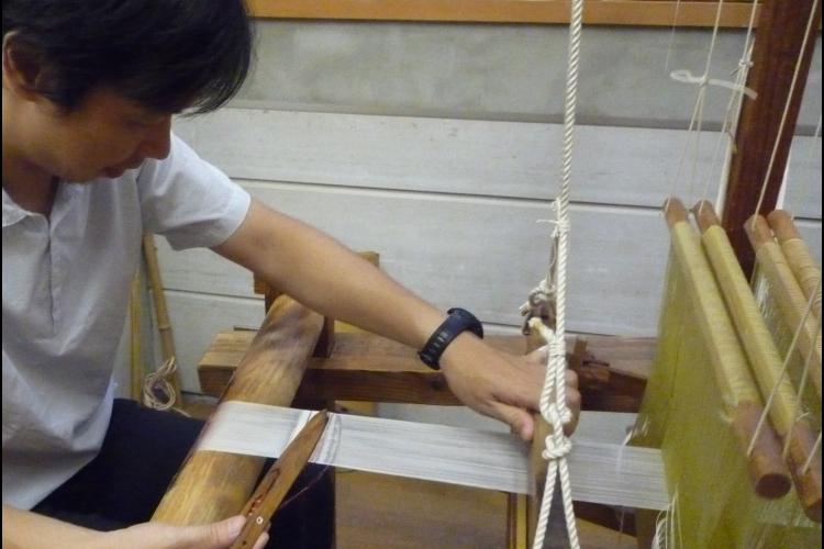 機織体験と京都の伝統織物工房見学の写真