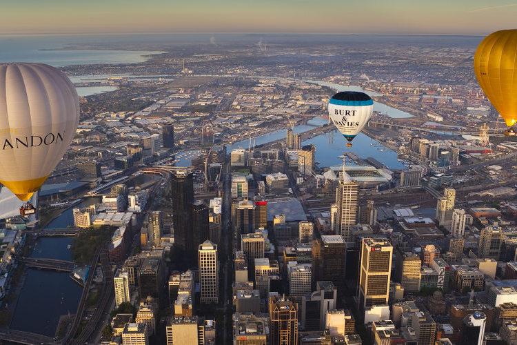 メルボルンシティ 熱気球(60分)の写真