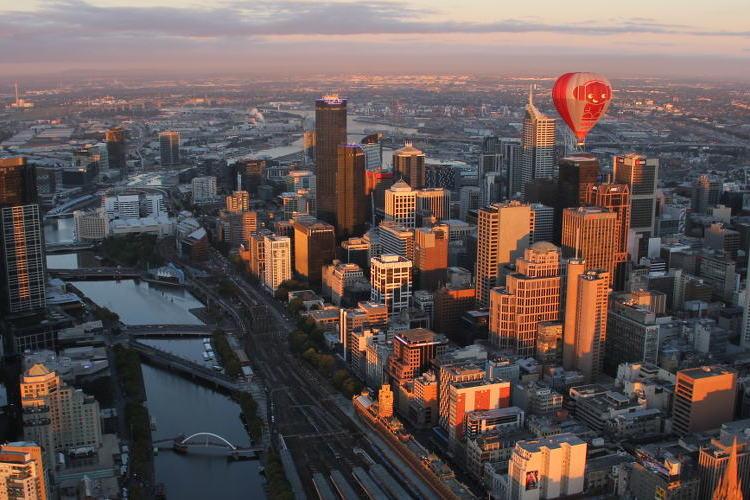 メルボルンシティ 熱気球(60分・朝食オ...の写真